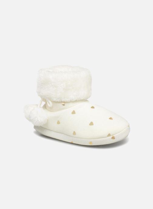 Chaussons Monoprix Kids BOTTINE NOEL F Blanc vue détail/paire