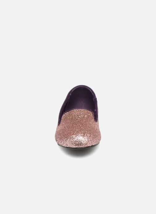 Mocasines Monoprix Kids SLIPPERS PAILET ROSE F Violeta      vista del modelo