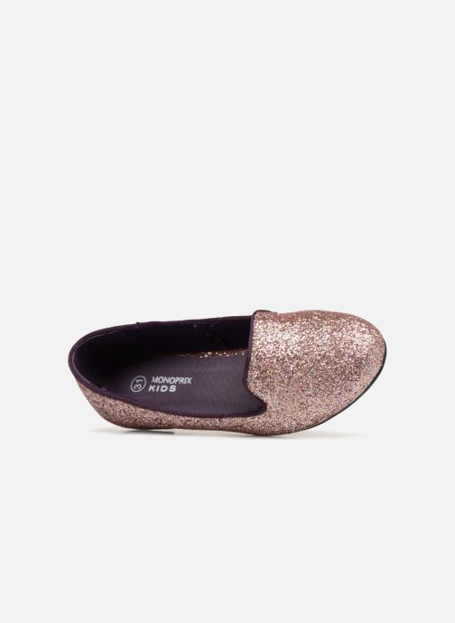 Mocasines Monoprix Kids SLIPPERS PAILET ROSE F Violeta      vista lateral izquierda