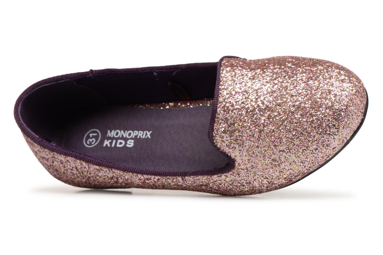 Mocassins Monoprix Kids SLIPPERS PAILET ROSE F Violet vue gauche