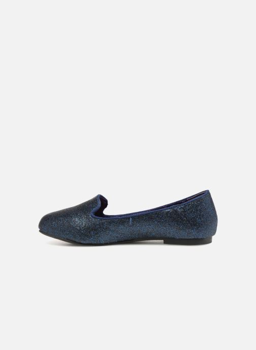 Loafers Monoprix Kids SLIPPERS PAILL NOIR F Blue front view