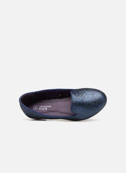 Loafers Monoprix Kids SLIPPERS PAILL NOIR F Blue view from the left
