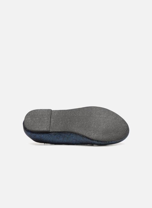 Loafers Monoprix Kids SLIPPERS PAILL NOIR F Blue view from above