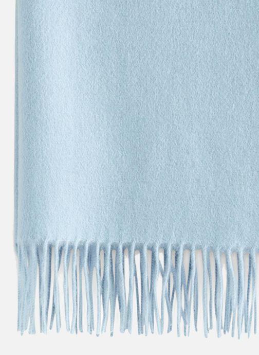 Sjaal Monoprix Premium ECHARPE LAINE UNIE TORSADEE Blauw voorkant