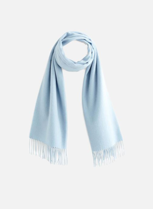 Sjaal Monoprix Premium ECHARPE LAINE UNIE TORSADEE Blauw detail