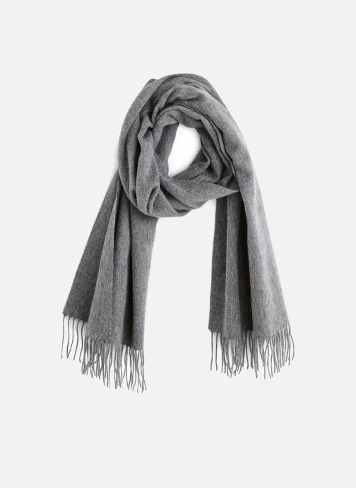 Halstørklæde og tørklæde Monoprix Premium ECHARPE LAINE UNIE TORSADEE Grå detaljeret billede af skoene