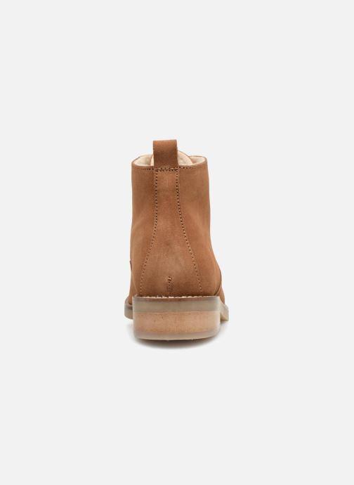 Zapatos con cordones Monoprix Premium BOOTS LACETS FOUREE Marrón vista lateral derecha