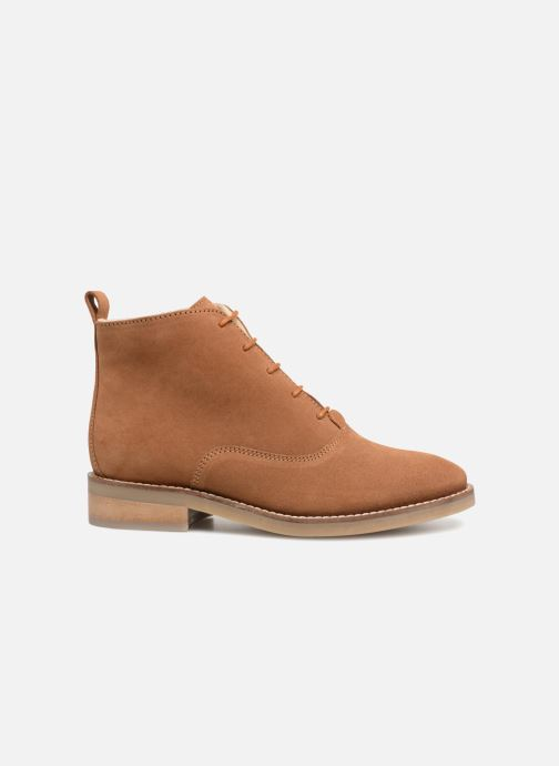 Lace-up shoes Monoprix Premium BOOTS LACETS FOUREE Brown back view