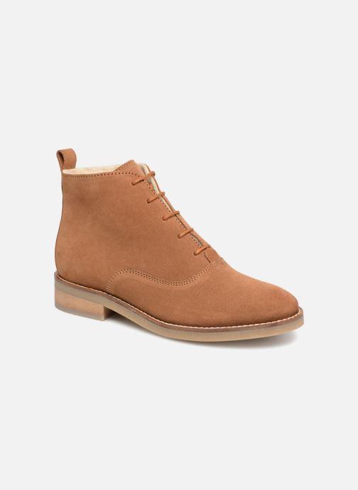 Zapatos con cordones Monoprix Premium BOOTS LACETS FOUREE Marrón vista de detalle / par