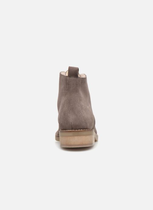 Schnürschuhe Monoprix Premium BOOTS LACETS FOUREE grau ansicht von rechts