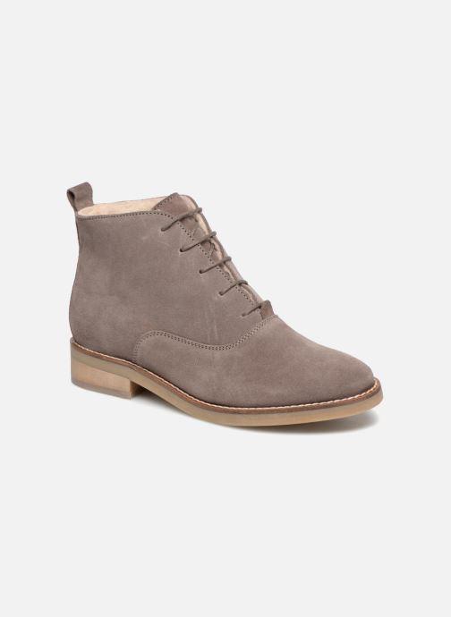 Zapatos con cordones Monoprix Premium BOOTS LACETS FOUREE Gris vista de detalle / par