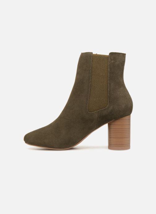Ankle boots Monoprix Premium BOOTS TALOn ROND Green front view