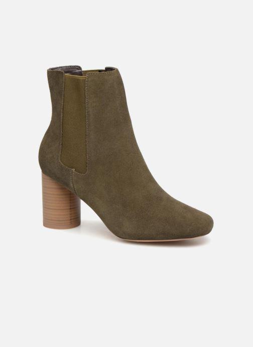 Ankle boots Monoprix Premium BOOTS TALOn ROND Green detailed view/ Pair view