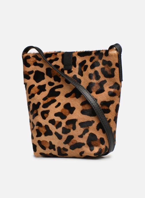 Handtaschen Monoprix Premium SAC SEAU CUIR LEOPARD schwarz ansicht von rechts