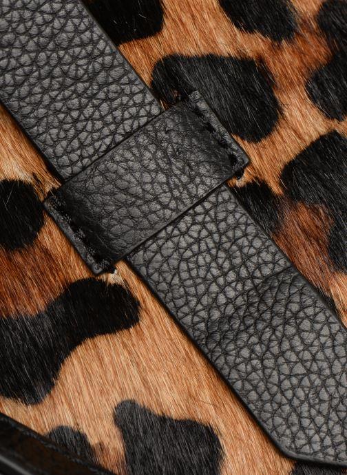 Handbags Monoprix Premium SAC SEAU CUIR LEOPARD Black back view