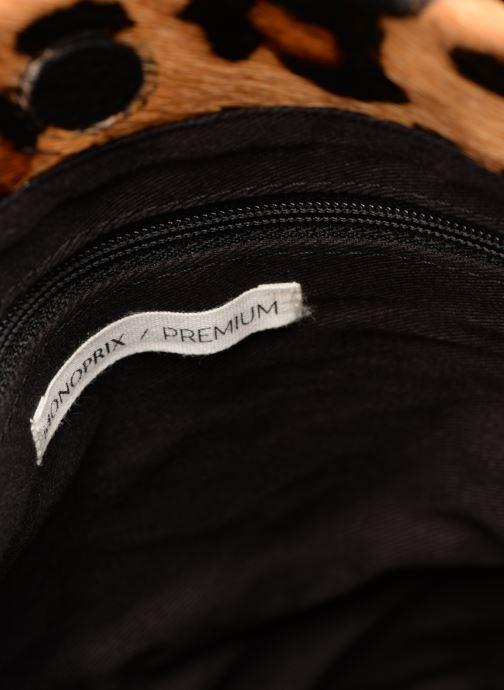 Handtaschen Monoprix Premium SAC SEAU CUIR LEOPARD schwarz ansicht von links