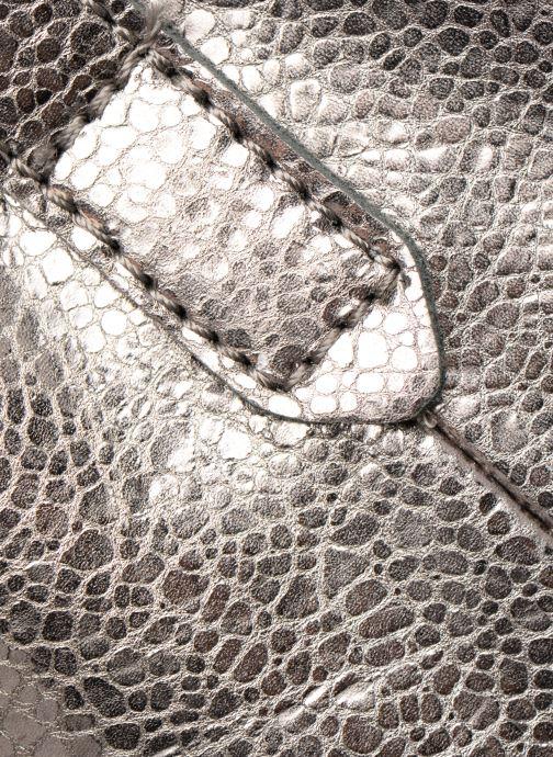 Handtaschen Monoprix Premium CABAS CUIR GRAINE silber ansicht von hinten