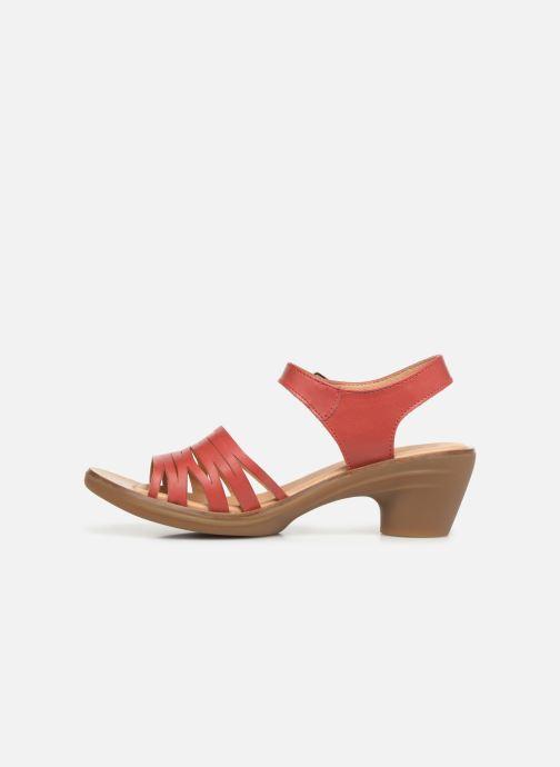 Sandals El Naturalista Aqua N5352 Red front view