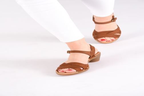 Sandals El Naturalista Aqua N5372 Brown view from underneath / model view