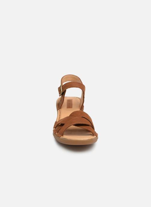 Sandales et nu-pieds El Naturalista Aqua N5372 Marron vue portées chaussures