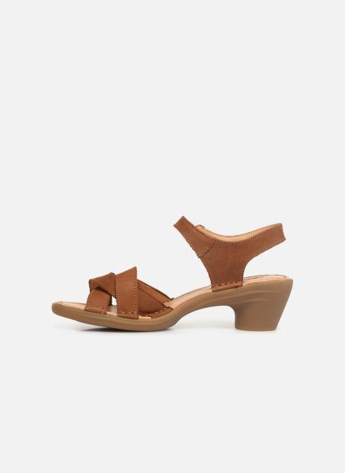 Sandales et nu-pieds El Naturalista Aqua N5372 Marron vue face