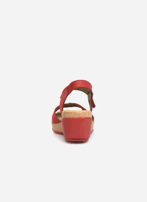 Sandales et nu-pieds El Naturalista Leaves N5000 C Rouge vue droite