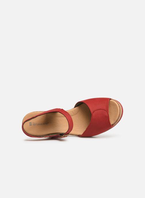 Sandales et nu-pieds El Naturalista Leaves N5000 C Rouge vue gauche