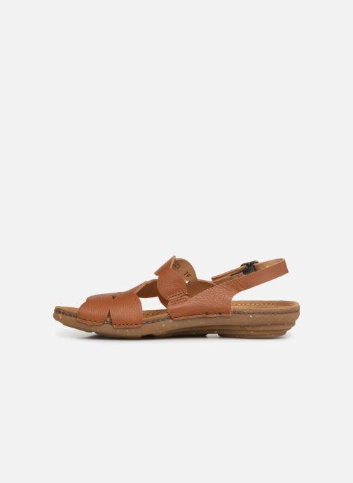 Sandales et nu-pieds El Naturalista Torcal N5223 Marron vue face