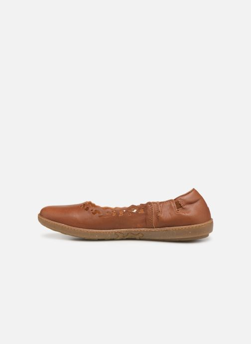Ballet pumps El Naturalista Coral N5308 Brown front view