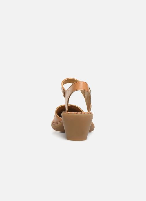 Sandales et nu-pieds El Naturalista Aqua N5324T Marron vue droite