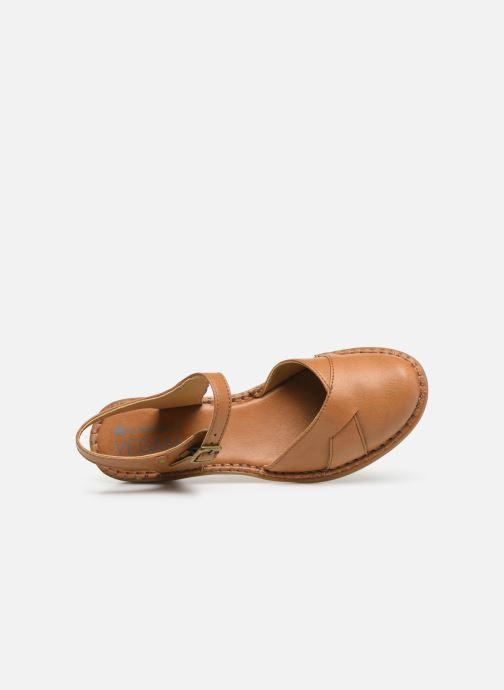 Sandales et nu-pieds El Naturalista Aqua N5324T Marron vue gauche