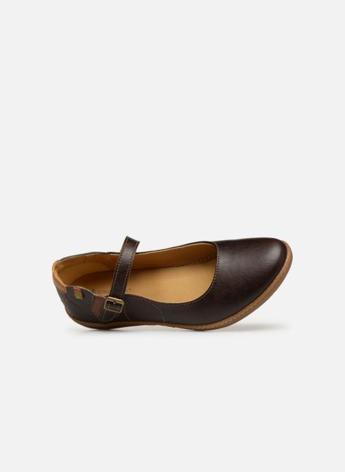 Ballet pumps El Naturalista Coral N5605T Brown view from the left