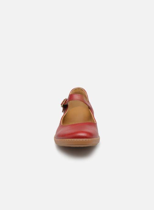 Ballerines El Naturalista Coral N5605T Rouge vue portées chaussures
