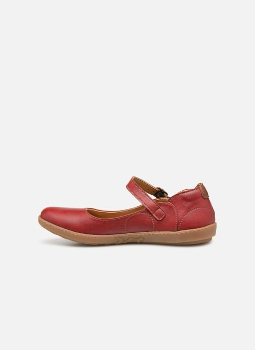 Ballet pumps El Naturalista Coral N5605T Red front view
