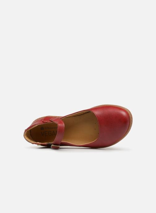 Ballet pumps El Naturalista Coral N5605T Red view from the left