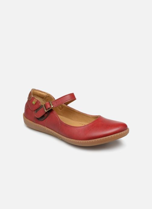 Ballet pumps El Naturalista Coral N5605T Red detailed view/ Pair view