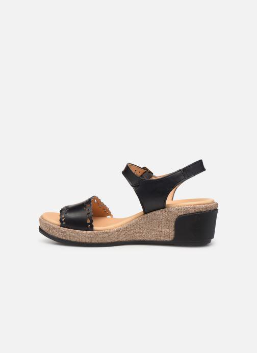 Sandales et nu-pieds El Naturalista Leaves N5026 Noir vue face