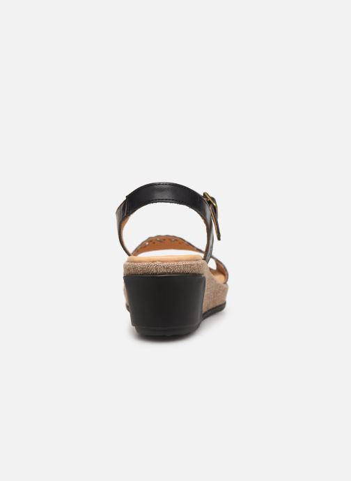 Sandals El Naturalista Leaves N5026 Black view from the right