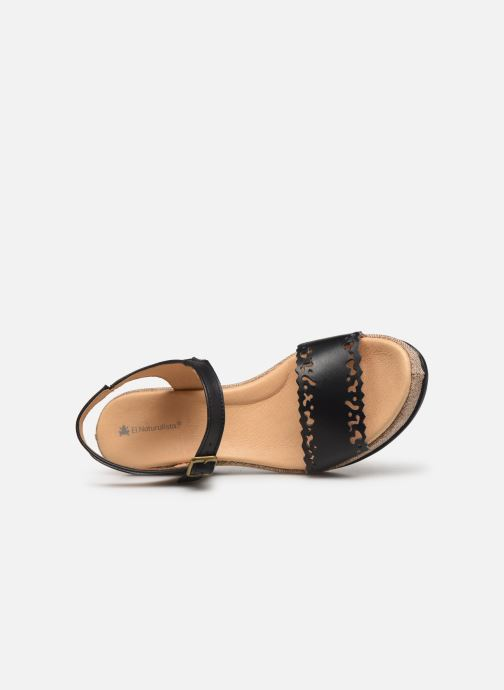 Sandals El Naturalista Leaves N5026 Black view from the left