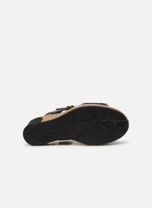 Sandals El Naturalista Leaves N5026 Black view from above