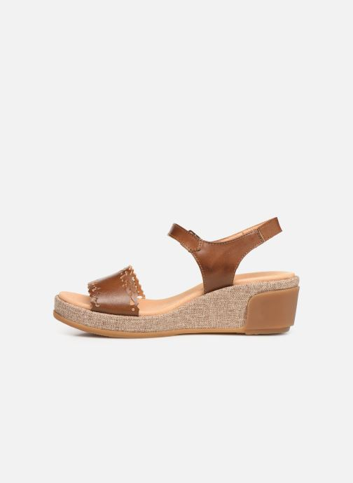 Sandales et nu-pieds El Naturalista Leaves N5026 Marron vue face