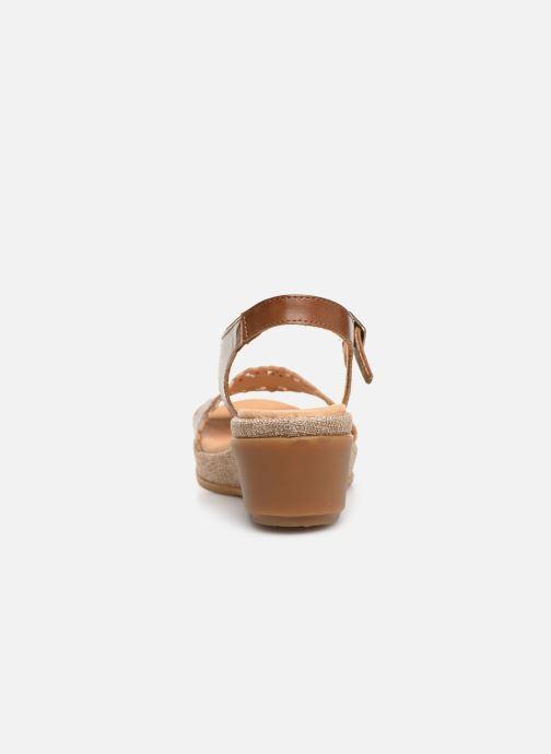 Sandales et nu-pieds El Naturalista Leaves N5026 Marron vue droite