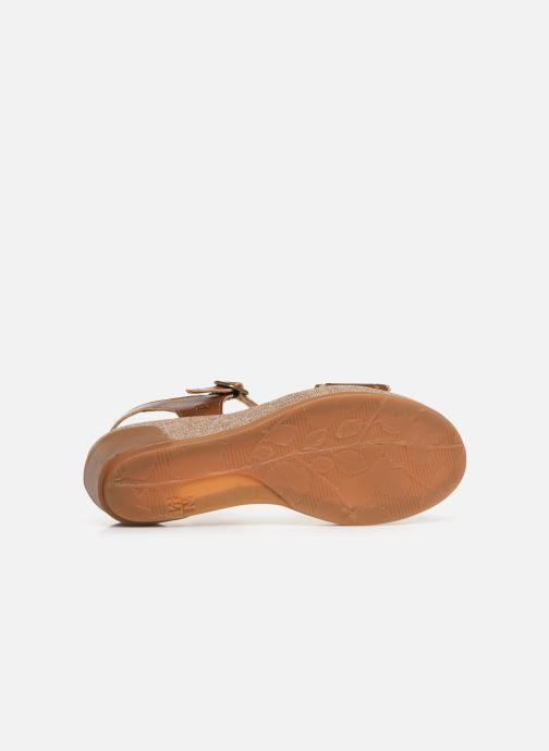 Sandales et nu-pieds El Naturalista Leaves N5026 Marron vue haut