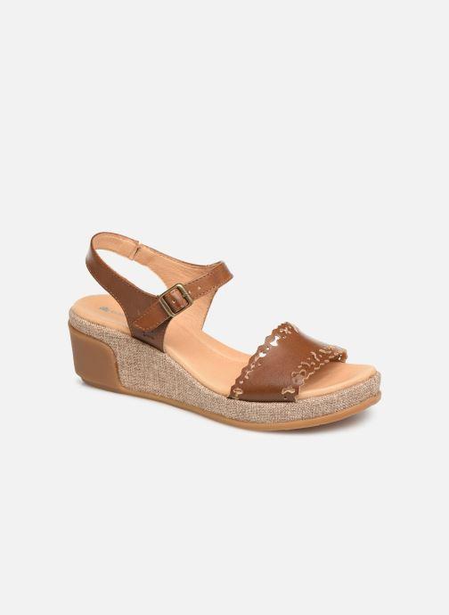 Sandales et nu-pieds El Naturalista Leaves N5026 Marron vue détail/paire