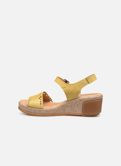Sandales et nu-pieds El Naturalista Leaves N5026 Jaune vue face