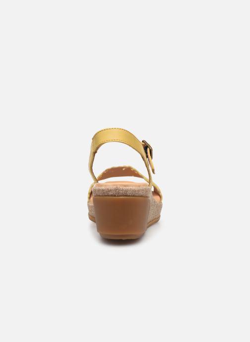 Sandales et nu-pieds El Naturalista Leaves N5026 Jaune vue droite