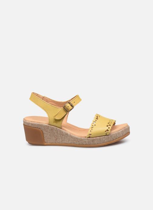 Sandales et nu-pieds El Naturalista Leaves N5026 Jaune vue derrière