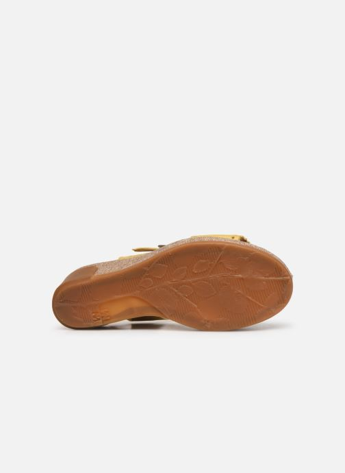 Sandales et nu-pieds El Naturalista Leaves N5026 Jaune vue haut