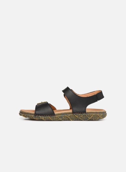 Sandals El Naturalista Redes N5503 Black front view
