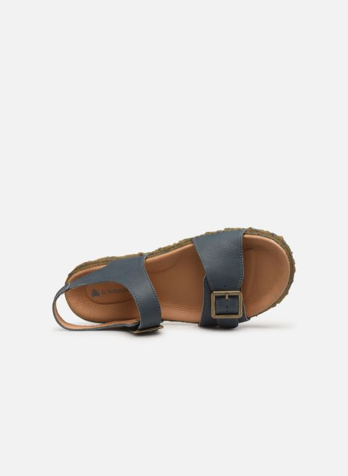 Sandals El Naturalista Redes N5503 Blue view from the left